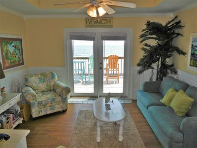 Photo for Gulf Front Condo, Large Balcony, 16 steps to the beach