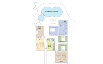 Home Layout - Lots of space for you and up to 6 guests.