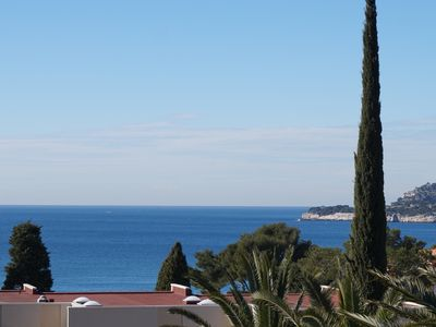 Photo for Cassis apartment in the residency of Grand Large, Revestel district, 5 minutes from the port and beaches, for 4 persons, sea view terrace, registered private parking