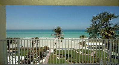 Direct 180 degree unobstructed Gulf view from your own balcony, gorgeous sunset