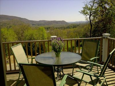 Photo for Berkshires weekend getaway. Stunning View. Walk to lake & downtown.
