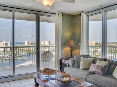 Photo for Amazing escape w/ shared pool, gulf & bay views, tennis courts, hot tub, & more!