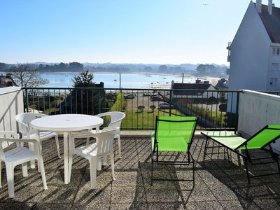 Photo for Apartment with large terrace beautiful sea view TREGASTEL