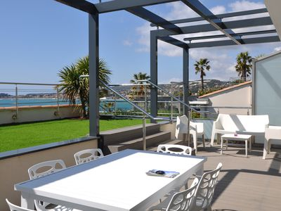 Photo for Luxury apartment 98 m² with magnificent sea view, air conditioning and services