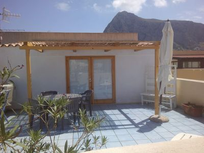 Photo for Studio with furnished terrace just a few minutes walk from the beach