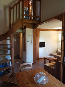 Photo for Beautiful Duplex Ski Apartment, Montchavin. SKI IN Super Access Paradiski. Ski