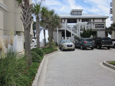 Free shuttle service to the Barefoot Beach Cabanna. No parking problems.