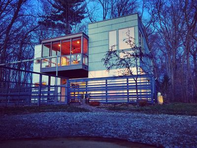 Photo for Luxe Modern Farm Tree House In The Woods With A Wellness / Yoga Studio And More.