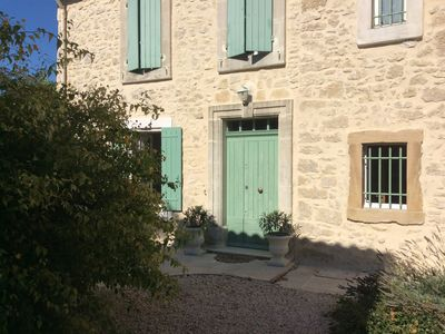 Photo for Old farmhouse renovated with charm in typical Provençal village in Luberon