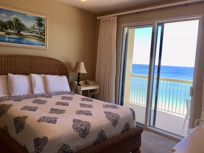 Photo for OCEAN VIEW from BEDROOM & LR  + Beach Service *Beautiful 1BR/2BA with bunk roo