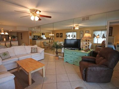 Photo for Beautiful Condo w/Patio, Gym, Pool, Tennis, Private Beach Access, & More!