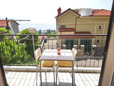 Photo for One bedroom apartment with balcony and sea view Opatija