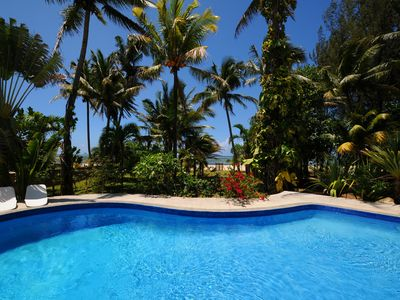 Photo for Philibert villa foot in the water with swimming pool on beach, maid, wifi