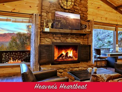 Photo for NEWLY RENOVATED 2/2 Luxury Cabin w/ Fire Pit & Mt LeConte View! Stocked Kitchen!