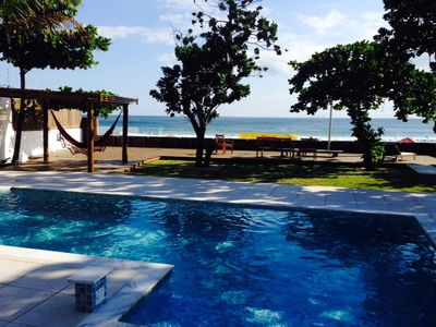 Photo for Ocean front home with 4 suites and pool