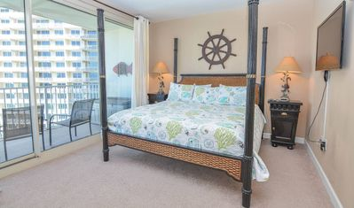 Beachfront condo is loaded with amenities including a full spa!