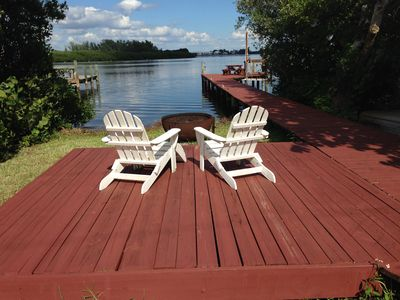Photo for Bayfront home with private dock - beach 2 minutes out the back door