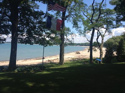 Lakeview from lawn in front of home