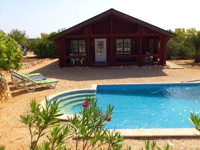 Photo for Holiday surrounded by almond and fig trees on 35,000 sqm of land with pool