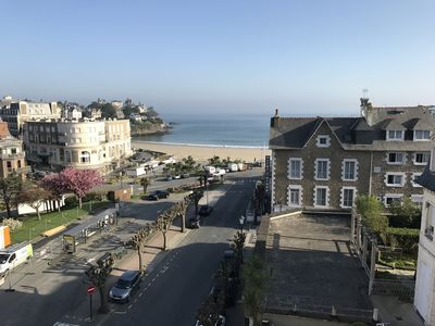 Photo for Sea view holiday apartment in the center of Dinard