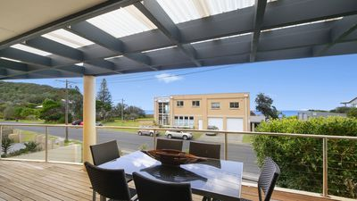Photo for SEA SPRAY, NORTH AVOCA - DIRECTLY ACROSS ROAD FROM BEACH, PET FRIENDLY OUTSIDE