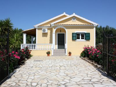 Photo for Detached holiday house at the sea, big garden, Wifi | Skidi, Corfu