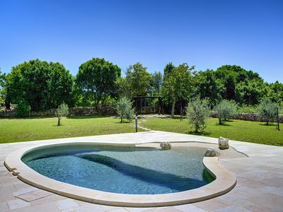 Photo for Beautiful villa with private pool, 3 bedrooms, 2 bathrooms, washing machine, air conditioning, WiFi, terrace and large garden with barbecue