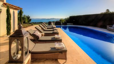 Photo for A stunning 5 bedroom property with magnificent views of St Tropez and the bay.