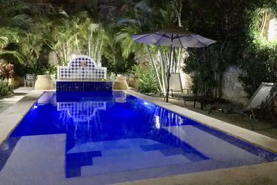 Skinny dipping under the  stars in the totally private pool is unforgettable!
