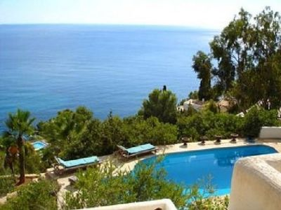 Photo for 5 bedroom Villa, sleeps 10 in Es Cubells with Pool