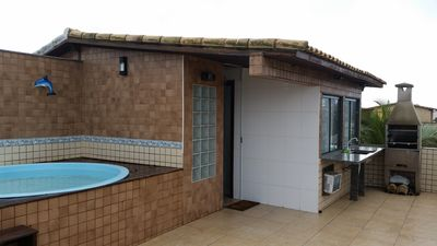 Photo for Triplex complete with pool, barbecue, sea view, Wi-Fi and cable TV