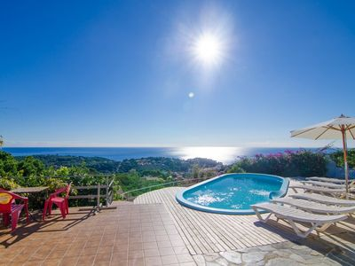 Photo for Club Villamar - Spectacular villa accommodating 12 people, with glorious sea views and lovely out...