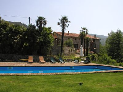 Photo for Charming cottages 3 stars, 20m pool, WIFI, dream setting, river
