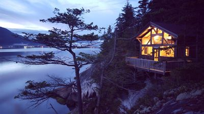 Photo for Waterfront Cabin, very private location, amazing view! Free Sups and Canoe:)