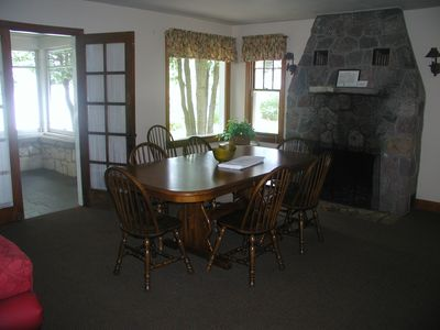 Dining room leads to the large screened porch.