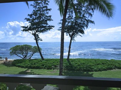View looking straight from the lanai.  Watch the whales.