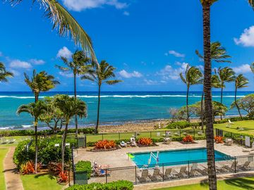 Kapaa Shore Resort #318, Ocean View, Top Floor, Great Views, Great Location!