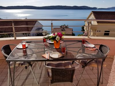 Photo for Seaview Apt, Great Sea Views, 150m to Beach, 10 Minute Walk to Trogir Old Town