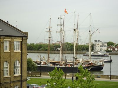 Tall Ships As Seen From Apartment