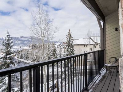 Photo for Multi-level Condo w/Cozy Fireplace, Private Balcony & Wet Bar!