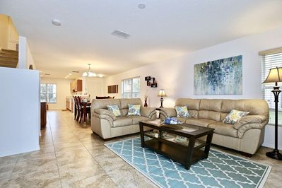 Open Floor Plan - Living Area, Dining Area and Kitchen Area