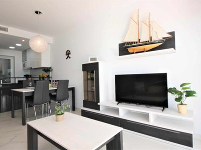 Photo for Casa Palamos, apartment with terrace, garden and shared swimming pool