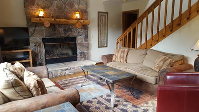Our comfortable living room greets you upon arrival.