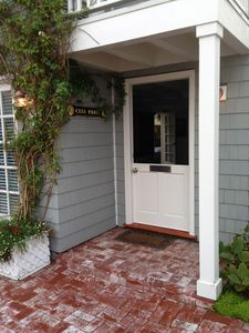 Front Dutch door off brick patio