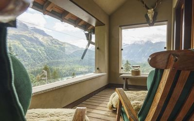 Photo for Traditional chalet overlooking St.Moritz