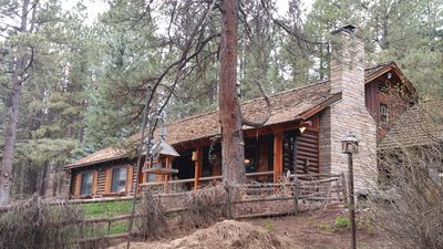 Photo for Great 2300 sq. ft. cabin in the pines....2 miles from the lake.  Enjoy 4 acres
