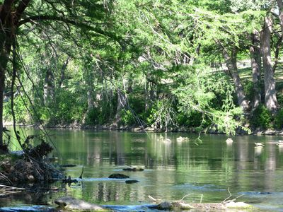 Treetop Retreat on the Guadalupe in New Braunfels, Ultra-Private End Unit!