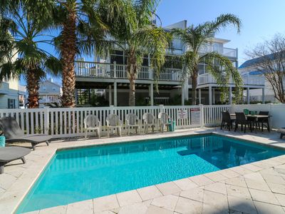 Photo for Stunning 6 Bdrm Beach Home - Steps to the Beach - Private Pool - Plenty of space