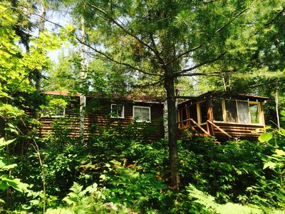 Photo for 3- Bedroom Lakeside Log Cottage--Gooderham Lake, Haliburton