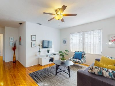 Photo for Dog-friendly getaway w/ a full kitchen, furnished patio, & large, enclosed yard